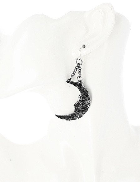 Moon and Sun Silver Earrings