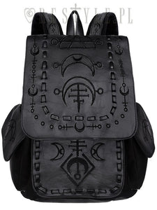 Runic Moon Black Backpack