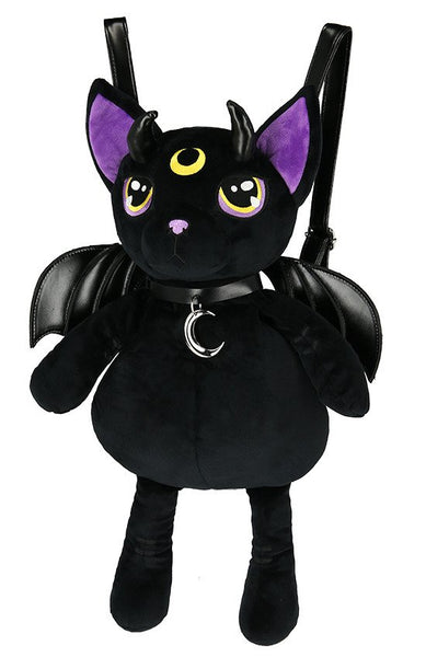 Violet Demonic Cat Backpack