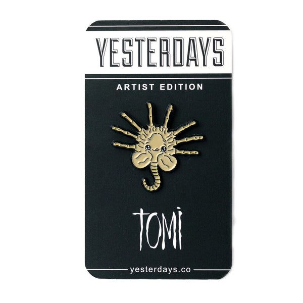Face Hugger Enamel Pin by Tomi Monstre