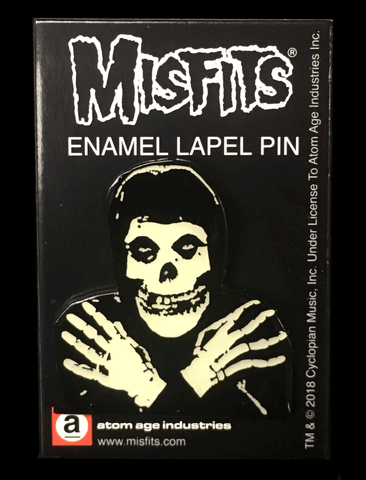 "Misfits Glow In The Dark ""Fiend"" Enamel Pin"