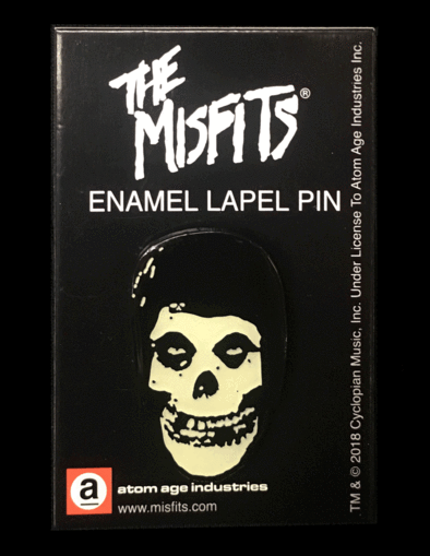 "Misfits Glow In The Dark ""Fiend Skull"" Enamel Pin"