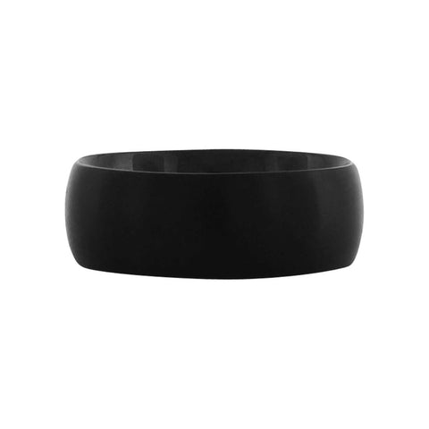 Plain Plated Black Matte Ring
