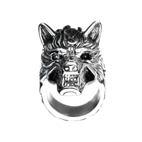 Stainless Steel 3D Wolf Ring