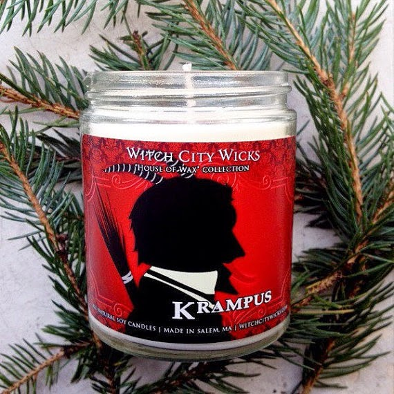 Krampus Candle