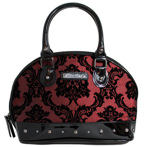 Damask Margaux Hand Bag In Deep Red
