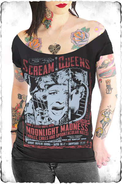 Scream Queens Off Shoulder Women's Tee