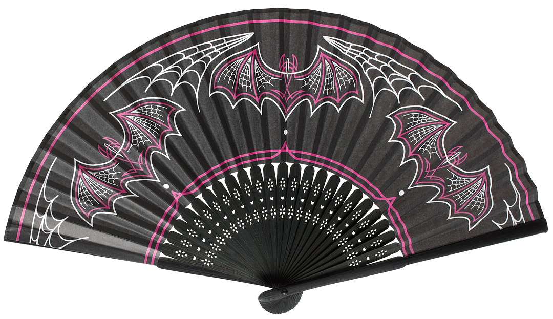 Batty Pinstripe Fan