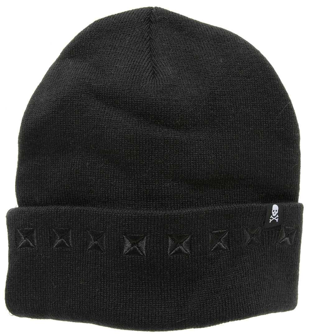 Black Stud Knit Hat