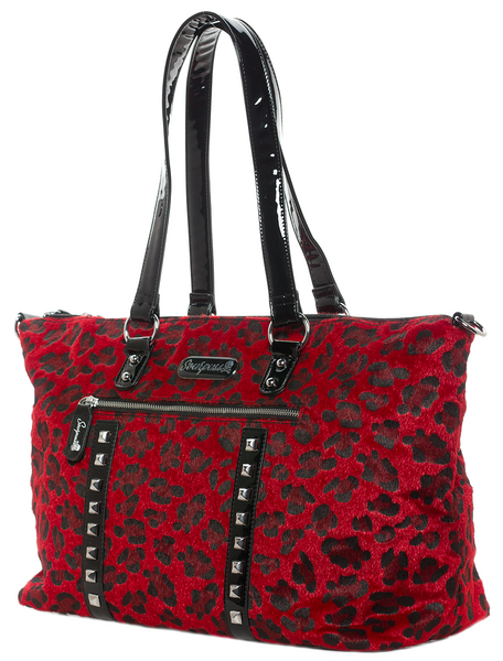 Leopard Leda Travel Bag Red
