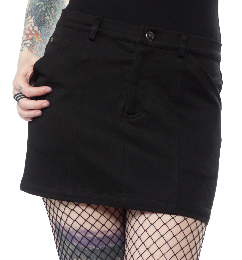 5-Pocket Mini Skirt - Black