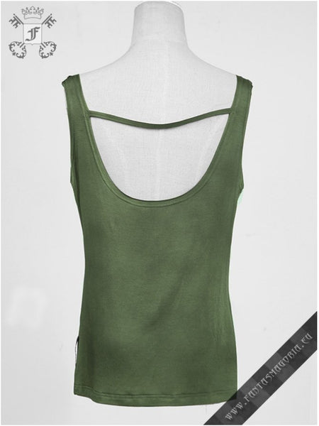 Green Watercolor Top