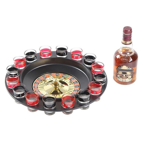 Roulette Drinking Game Set With 2 Balls & 16 Glasses