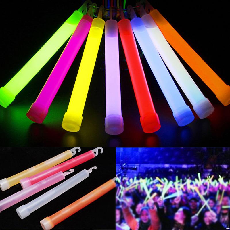 2 Pcs 6inch Industrial Grade Glow Sticks Party Camping Emergency Lights Glowstick Chemical Fluorescent Hanging Decoraction