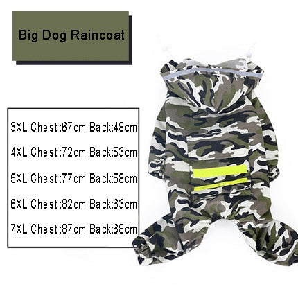 Large Waterproof Dog Raincoat