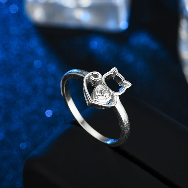 Cat Silver Ring