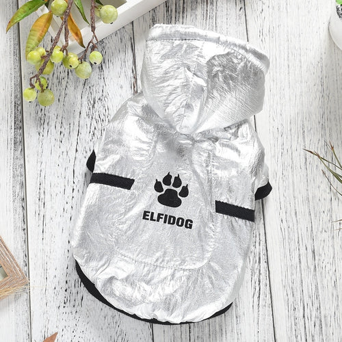 Sport Sliver Pet Dog Jacket Clothing Warm Cool Fashion Puppy Winter Cotton Padded Down Coat Wear XS XXL Frenchie Bulldog Terrier