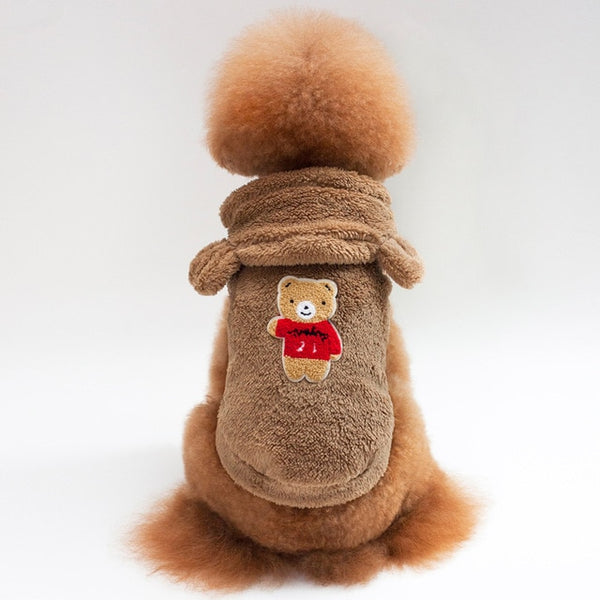 Fleece Dog Clothes Dog Coat