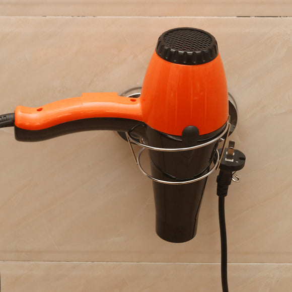 Hair Dryer Stand with Vacuum Soap Holder