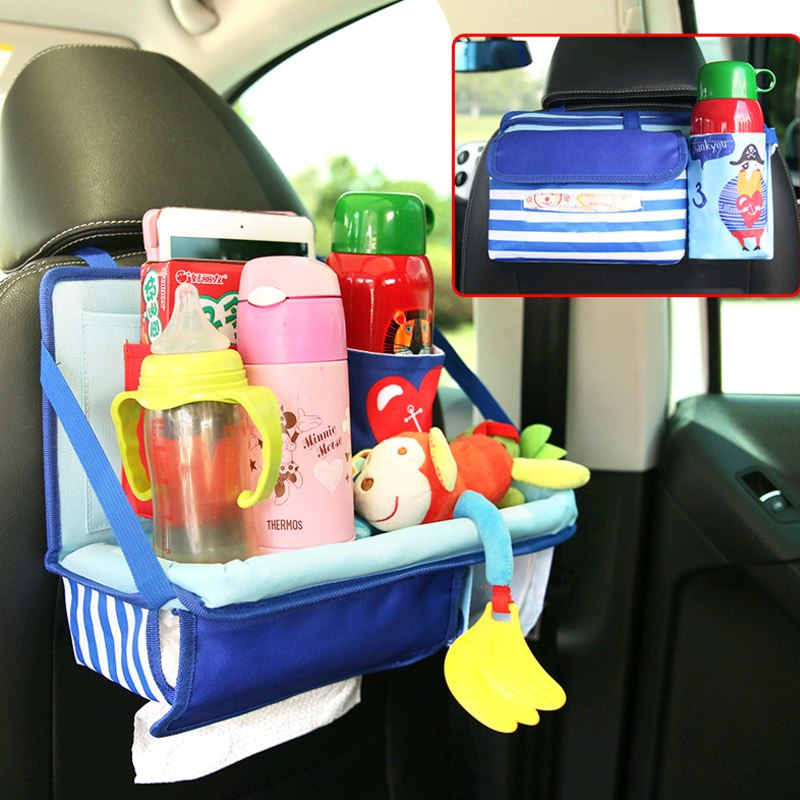 Universal Baby Car Hanging Basket Storage Bag Car Seat Back Organizer With Tablet Holder Travel Storage Bagstroller Accessories Activity & Gear