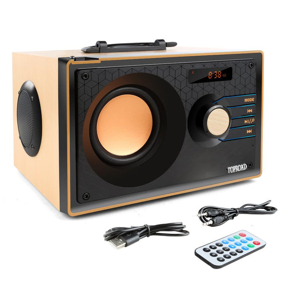 TOPROAD Stereo Bluetooth Speaker Subwoofer Heavy Bass Wireless Boombox Sound Box Support FM TF AUX USB Remote Control