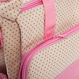 5pcs Multifunctional Dot Nappy Changing Mummy Handbag Diaper Pad Feeding Bottle Holder Food Bag for Babies - ziloqa