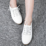 Vintage Lady Flat Casual Shoes Comfortable Nursers Footwear - ziloqa