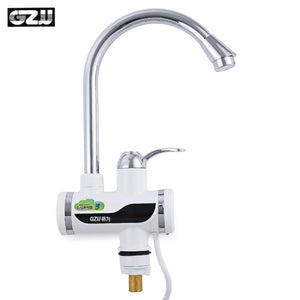 GZU ZM - D4 Tankless Electric Hot Water Heater Faucet Kitchen Kit with LED Digital Display - ziloqa