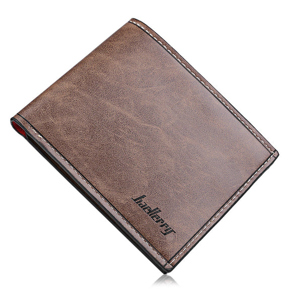 Solid Color Letter Open Horizontal Wallet for Men
