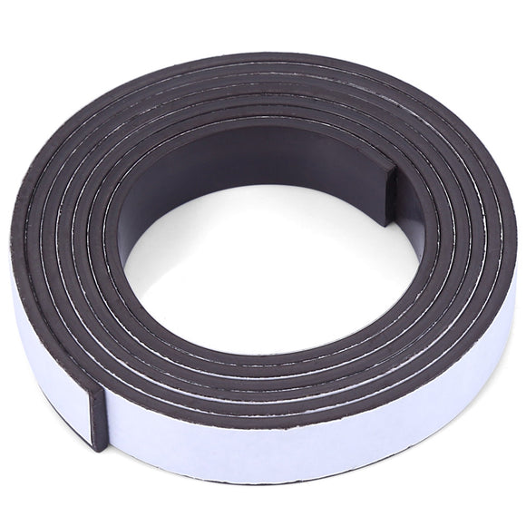 10 x 1.5mm 1m Self-adhesive Flexible Rubber Magnet Strip Tape Roll - ziloqa