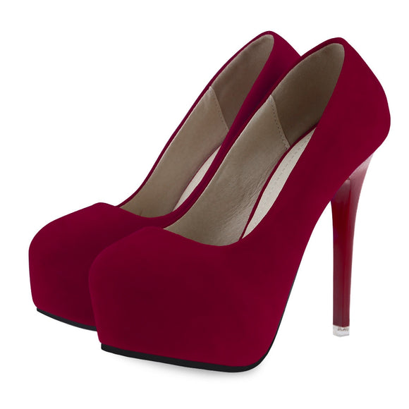 Sexy Solid Color Ladies Thin High Heel Shoes - ziloqa