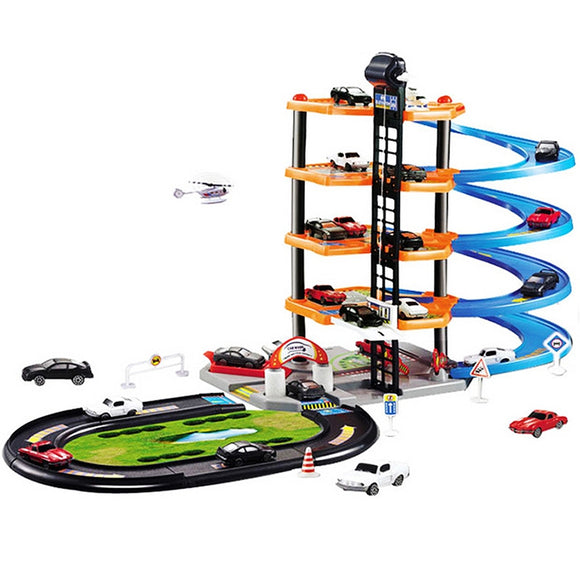 3D Car Parking Lot DIY Model Assembly Toy for Children - ziloqa