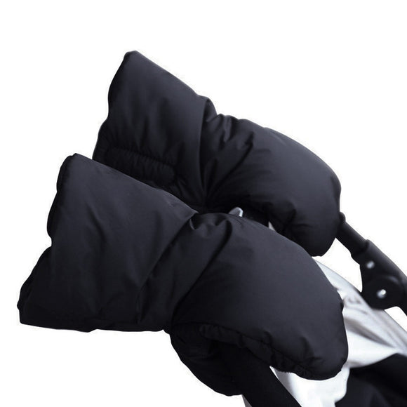 Waterproof Chunky Plush Stroller Warmer Pushchair Gloves