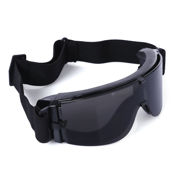 X800 Tactical CS Game Windproof Sunglasses Multifunctional Cycling Hunting Glasses - ziloqa