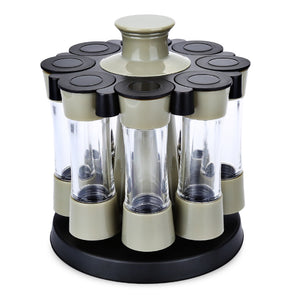 8pcs Plastic Rotary Sauce Spice Seasoning Bottle Box - ziloqa