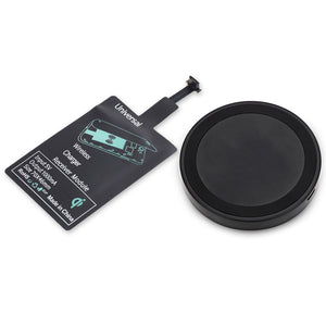 Qi Wireless Charger Pad + Charging Adapter Module for Android