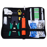 Network Computer Maintenance Tool Kit Cable Tester Crimper 50 Rj45 Cat5 Cat5e Connector Plug 10pcs Rj45 Strain Relief Boot - ziloqa