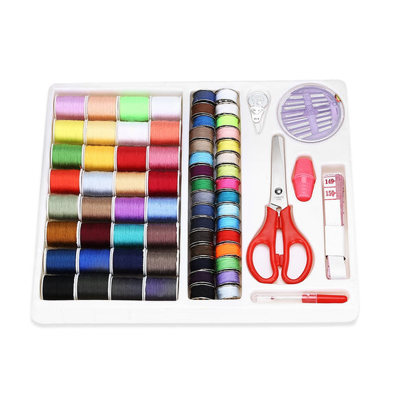 Compact Travel Sewing Kit with Scissor Tape Measure Thread