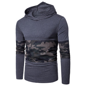 Hooded Mesh Camouflage Panel T-shirt - ziloqa