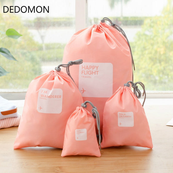 4pcs/lot Set Travel Accessories Men and Women Clothes Classified Organizers Packing Bags Shoes Bags