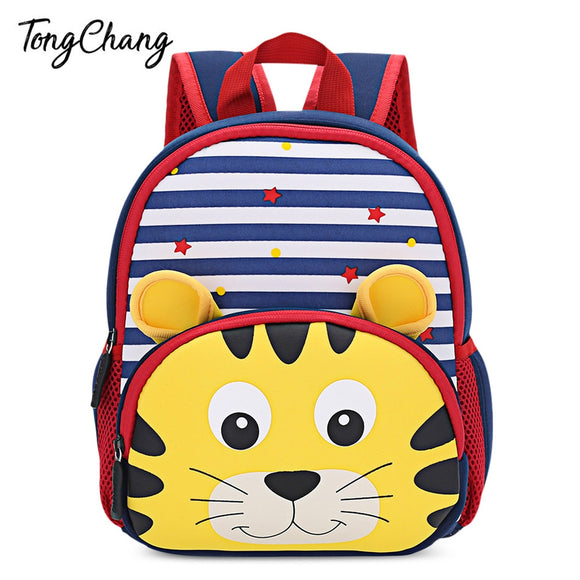 TongChang Cute Kid School Bag 3D Cartoon Print Backpack