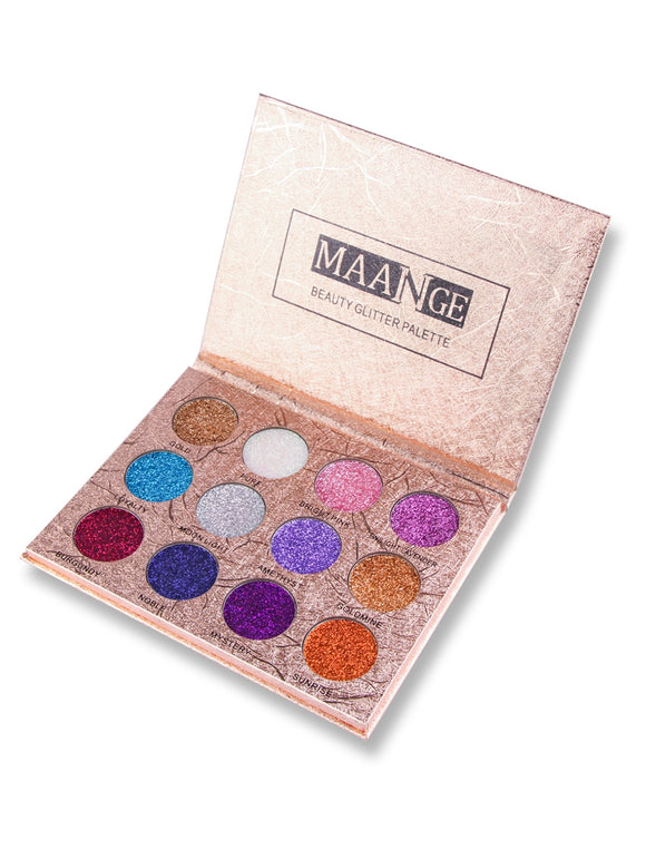 Professional 12 Colors Glittering Long Lasting Eyeshadow Palette - ziloqa