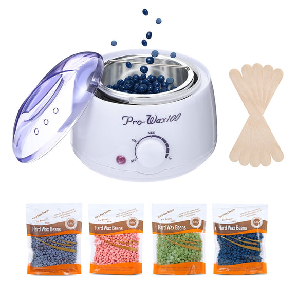 Hair Removal Wax Warmer Heater Machine Beans Waxing Kit - ziloqa