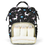 Diaper Bag Water-resistant Unicorn Pattern Separate Pockets - ziloqa