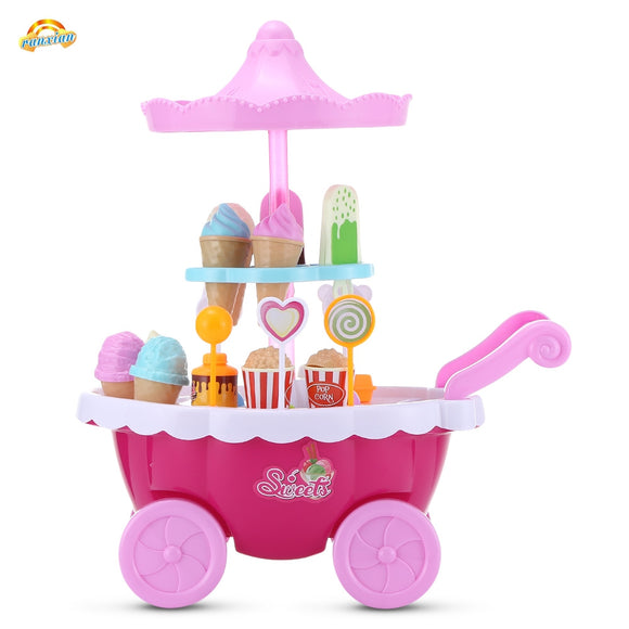RANXIAN 1800 - 22 Household Playset Candy Ice Cream Cart - ziloqa