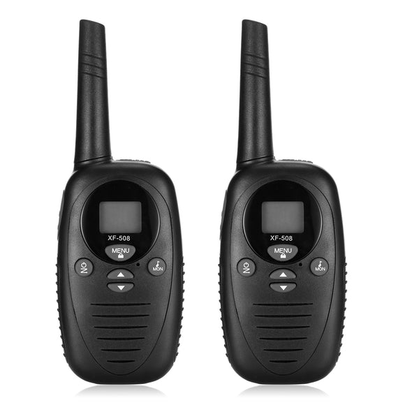 2pcs XF - 508 Children Walkie Talkies 2-way Radio 22 Channels 3KM Range Belt Clip