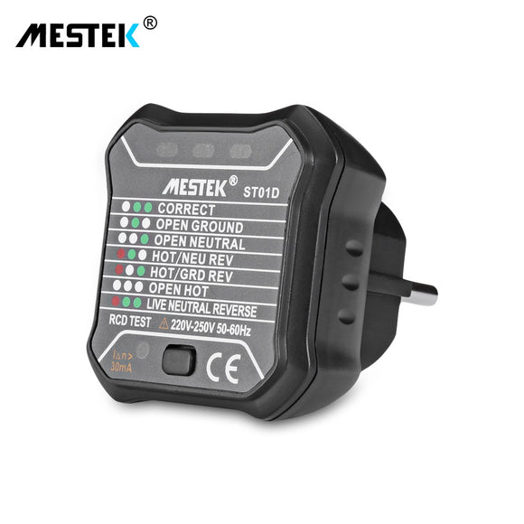 MESTEK ST01D RCD / GFCI Outlet Electric Socket Tester EU Plug Leakage Test - ziloqa