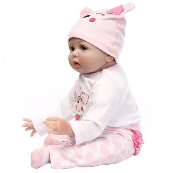 NPK Simulated Cute Soft Touch Lifelike Silicone Baby Girl Reborn Toy - ziloqa