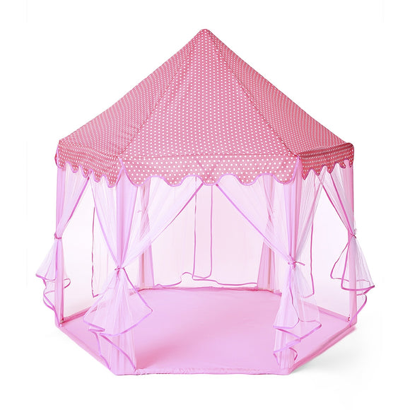 140 x 135cm Large Princess Castle Tulle Children House Game Selling Play Tent