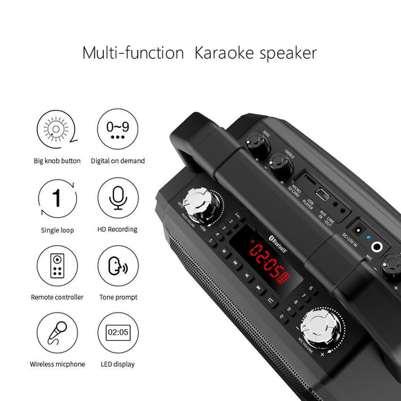 Mifa M520 Bluetooth Speaker with Wireless Microphone Mobile Karaoke Speaker TWS Wireless Stereo